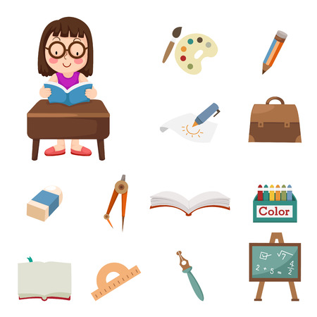 illustration of Student icons Vector