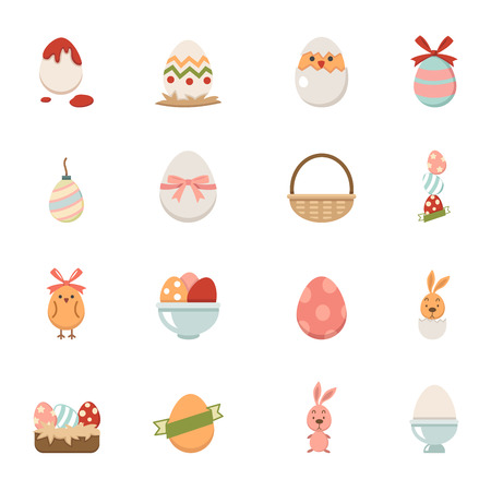 Celebration easter icons vector eps10 Vector