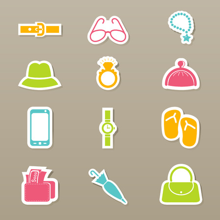 Accessory icons set vector Vector