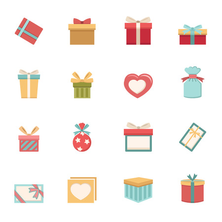 gift box icons vector eps10 Illustration