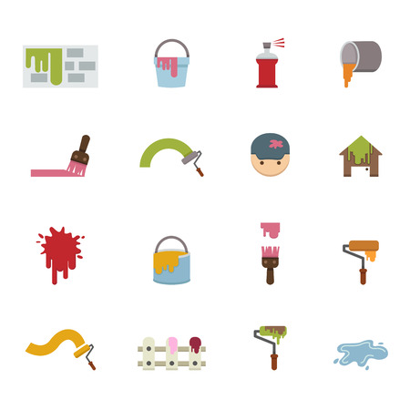 Painting Icons vector eps10 Vector