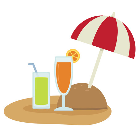 beach side: illustration of beach umbrella vector
