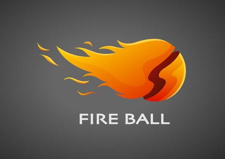 fire ball: illustration of fire ball icon