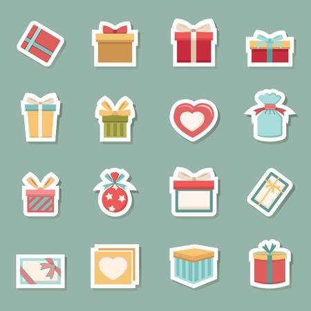 illustration de la boîte-cadeau icônes vecteur eps10