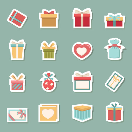 illustration of gift box icons vector eps10
