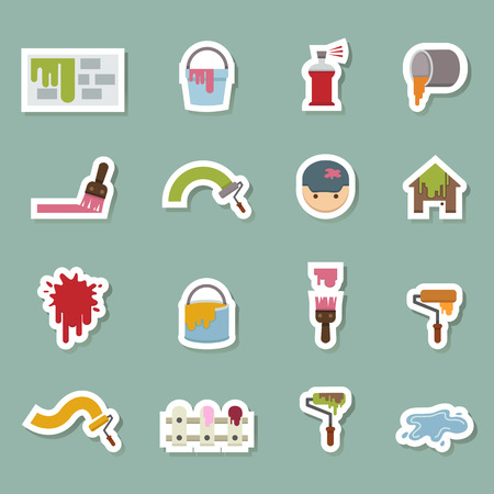 illustration of Painting Icons vector eps10 Vector
