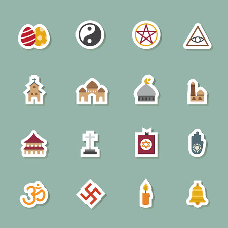 triskel: illustration of religion icons vector eps10