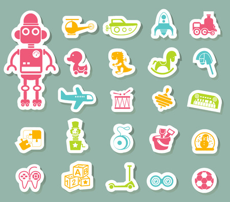 illustration of toys icon vector Vector