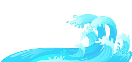 storm tide: illustration of water wave vector Illustration