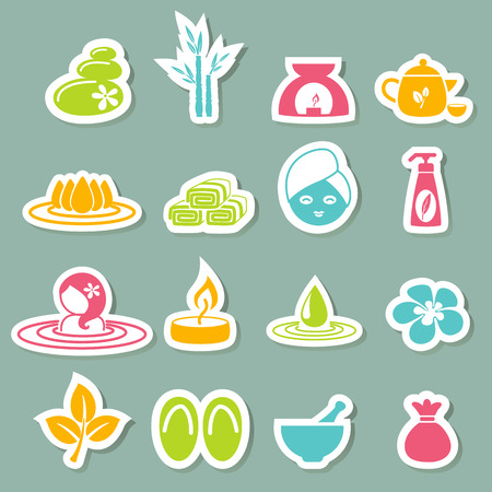 illustration of spa icons Vector
