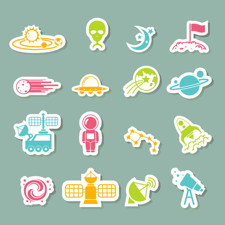 illustration of space icons Vector