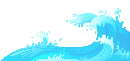 illustration of water wave vector Vettoriali