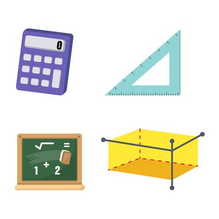 illustration of isolated mathematics set vector Vector