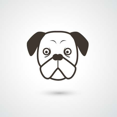 snouts: dog icon vector