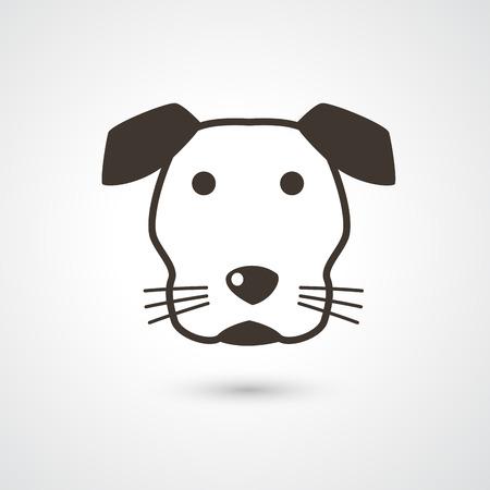 dog toy: dog icon vector