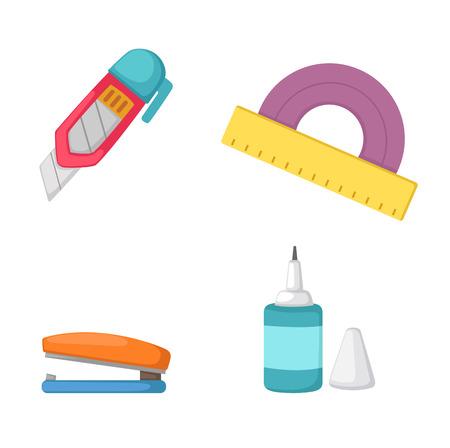 illustration of education tools vector
