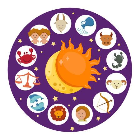 illustration of zodiac vector Illustration
