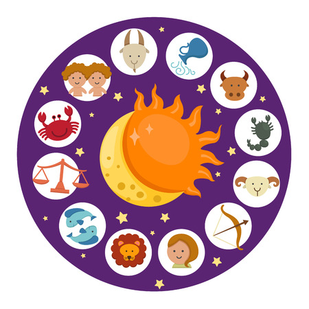 Ilustración del vector del zodiaco Foto de archivo - 31027893