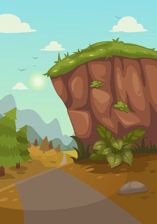 Illustration of mountains landscape Vector