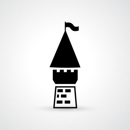 illustration of castle icon