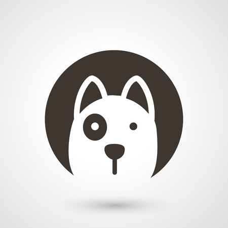 illustration of dog icon  Иллюстрация