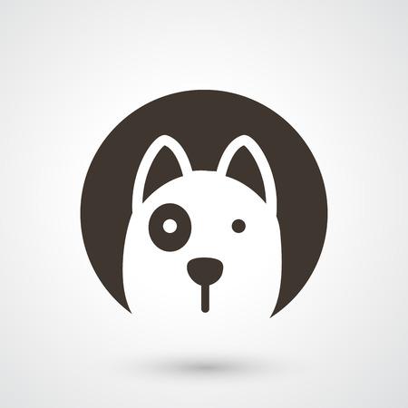illustration of dog icon  Vettoriali
