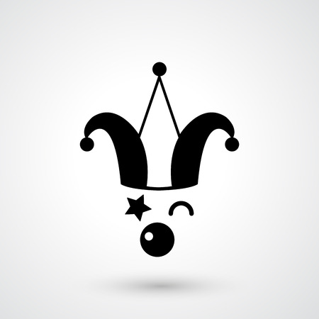 mischief: illustration of clown icon