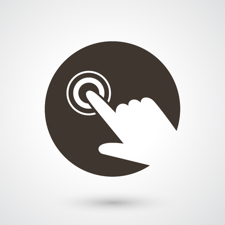 multi touch: illustration of hand touch icon