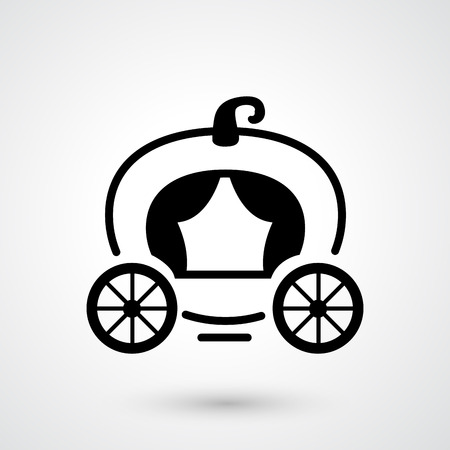 horse drawn carriage: illustration of carriage icon vector
