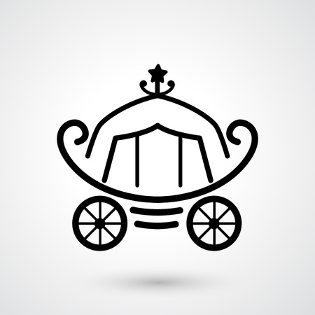 a two wheeled vehicle: illustration of carriage icon  Illustration