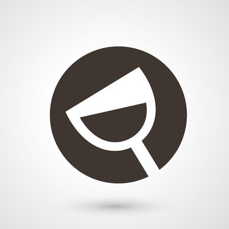 copa de vino: Ilustraci�n del icono de la copa