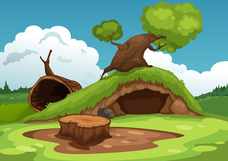 non urban scene: Illustration of beautiful landscape background vector