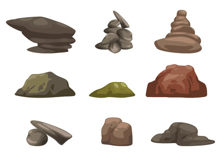 illustration of stone set vector Vectores