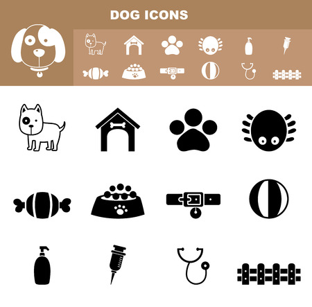 pets icon: illustration of dog icon vector
