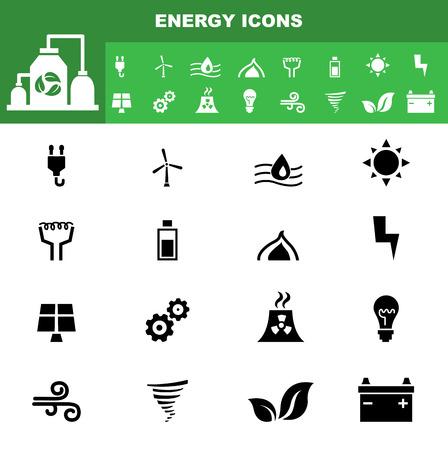 viento: ilustraci�n del icono de la ecolog�a conjunto de vectores