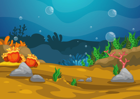 marine scene: Illustration of under the sea background vector