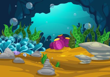 Illustration der unter dem Meer Hintergrund Vektor-
