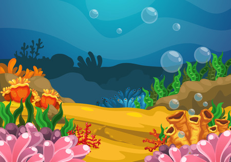 swimming underwater: Illustration of under the sea background vector