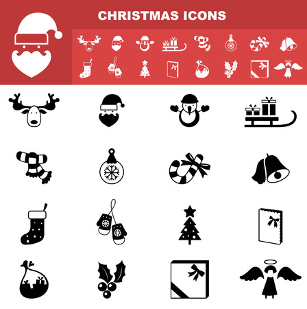 Illustration of christmas icons vector Vector