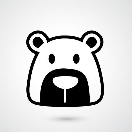 kodiak: Ilustraci�n de oso icono vector Vectores