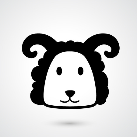 lamb chop: Illustration of goat icon vector Illustration