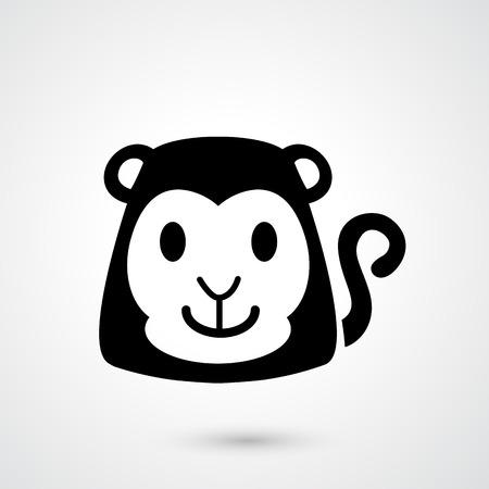 jungle jumping: Illustration of monkey icon vector Illustration