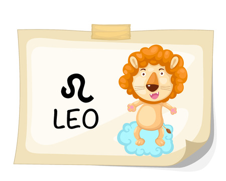 Zodiac signs - Leo vector Illustration Vector