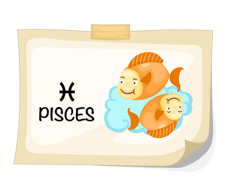 pisces: Zodiac signs - Pisces vector Illustration Illustration