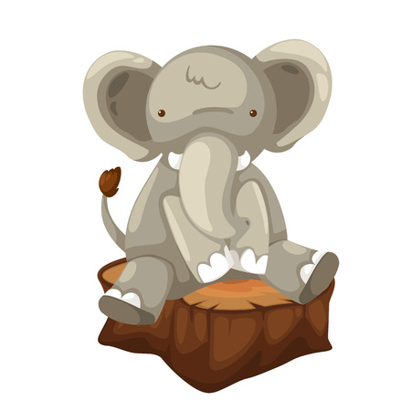big toe: illustration of elephant vector Illustration