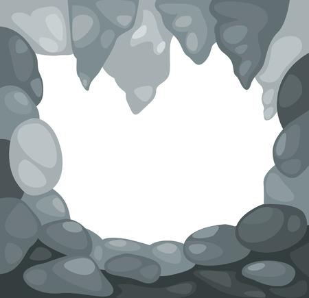 prehistoric: Illustration of cave vector