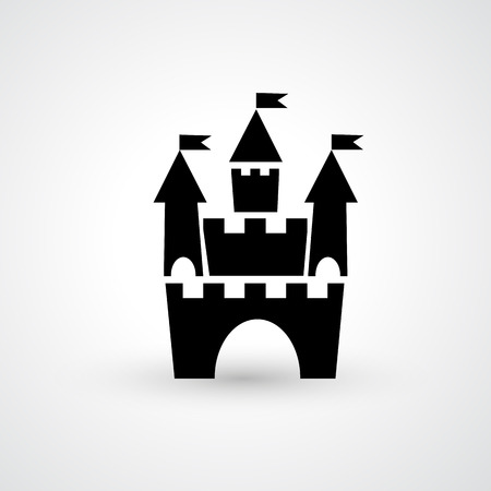 turret: Illustration of castle icon vector