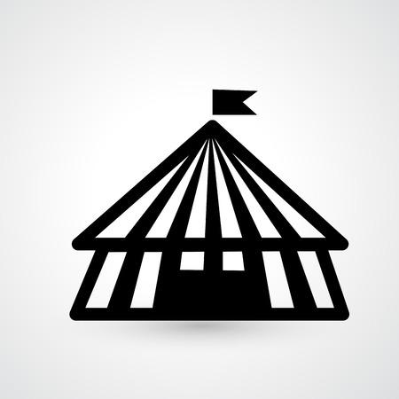 cirque: Illustration of circus icon vector