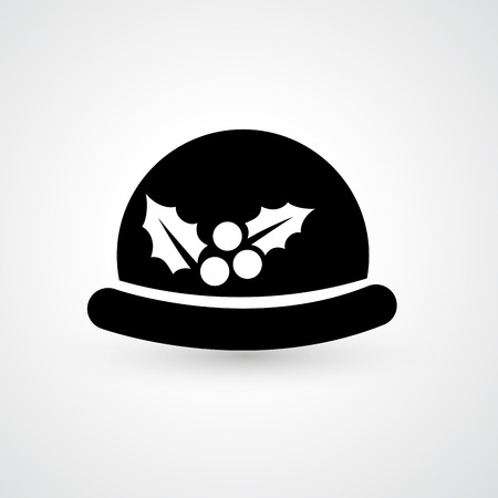 bouliste: Illustration de chapeau melon ic�ne vecteur