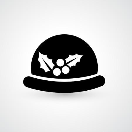 sophistication: Ilustraci�n del jugador de bolos icono sombrero vector Vectores